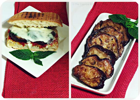 Cheat's Grilled Eggplant Parmigiana Ciabattas