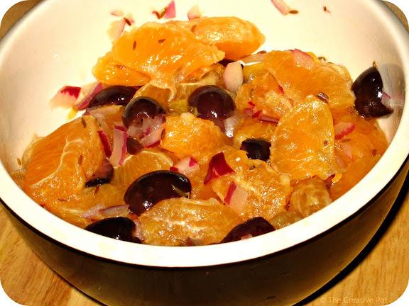 Photo of Orange, Olive and Red Onion Salad