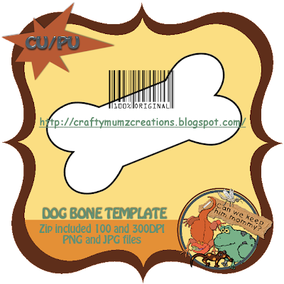 Dog Bone Template ( Craftymumz Creations) CWKHM_CUdogbonetempprev_RSW