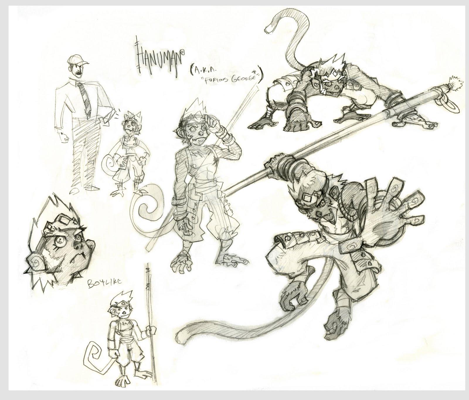 Character Design Hanuman : Morgan s art sun wukong hanuman design process