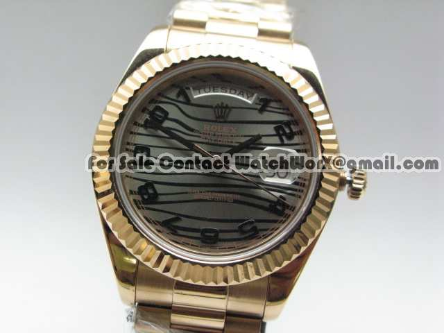 Date Oversize Rose Gold with Rolex Exact Clone Auto Movement is HERE