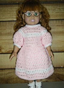 Easy Crochet Doll Dress Pattern : Easy 18