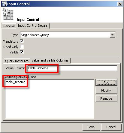 jasper reports input control columns