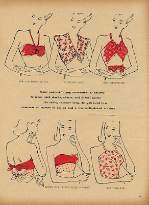 1940's bandeau tops