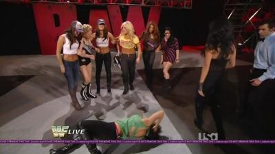 Michelle McCool Nip Slip/ Layla thong slip both from this weeks Raw.
