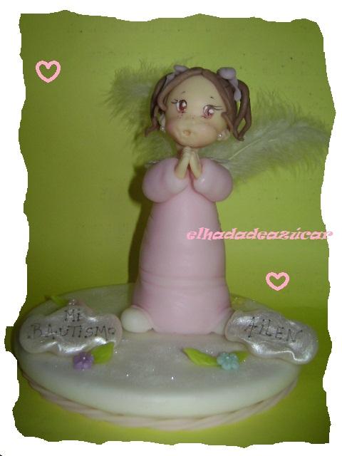 adorno torta angelita