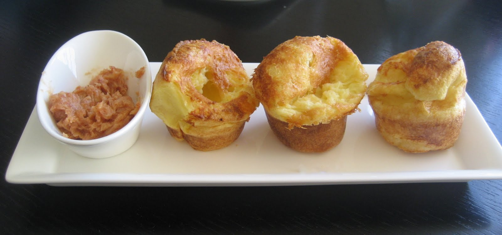 raspberry eggplant: Manchego Cheese Popovers with Membrillo Butter