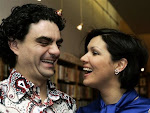 "Anna and Rolando at a book-signing of ""Duets"" in Vienna on 05th March 2007"
