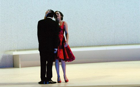 Anna and Rolando in La Traviata at the Salzburger Festspiele 2005