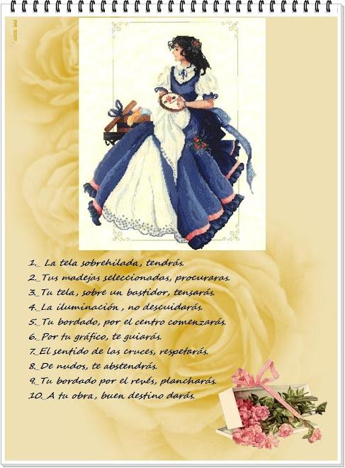 Los diez mandamientos de una bordadora
