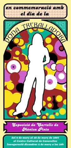 Cartel para la exposición de una selección de mi trabajo el dia 8 de marzo. Canovelles 2006