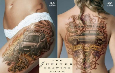 Hyundai Gets Creative With Sexy Tattoo