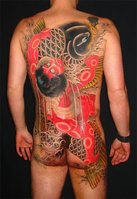 koi tattoo, back tattoo,  shogun tattoo
