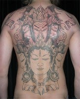 back tattoo, japanese tattoo, shogun tattoo