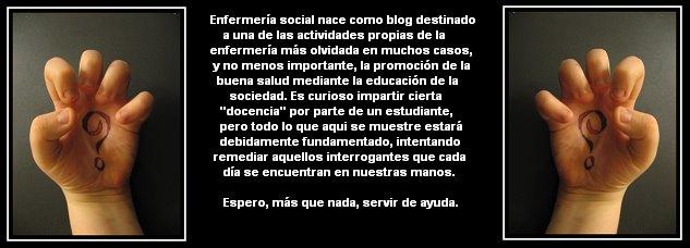 - Enfermería social -