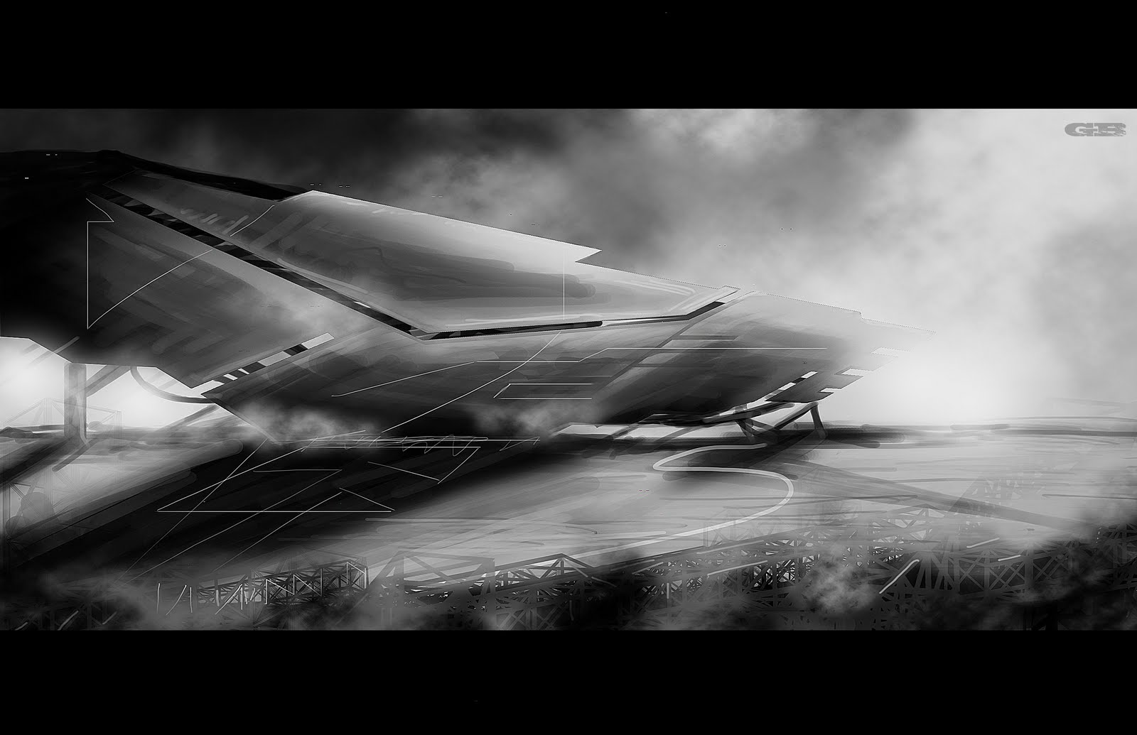 Art of gurmukh bhasin 2010 gnomon tutorial speed painting for Space matte painting