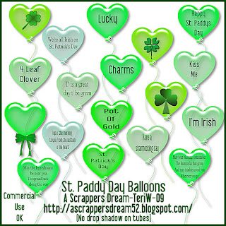 St Patties Day Balloons - By: A Scrappers Dream StPaddyBalloonsPREV