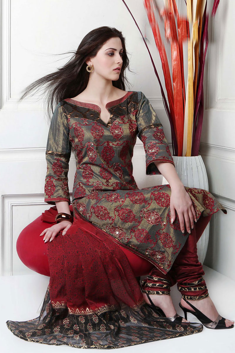 cotton salwar kameez neck designs-Fashions-For-All 1