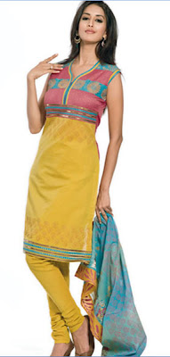 yellow salwar kameez