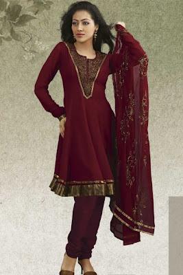 Latest Designs of Full Sleeves Shalwar Kameez
