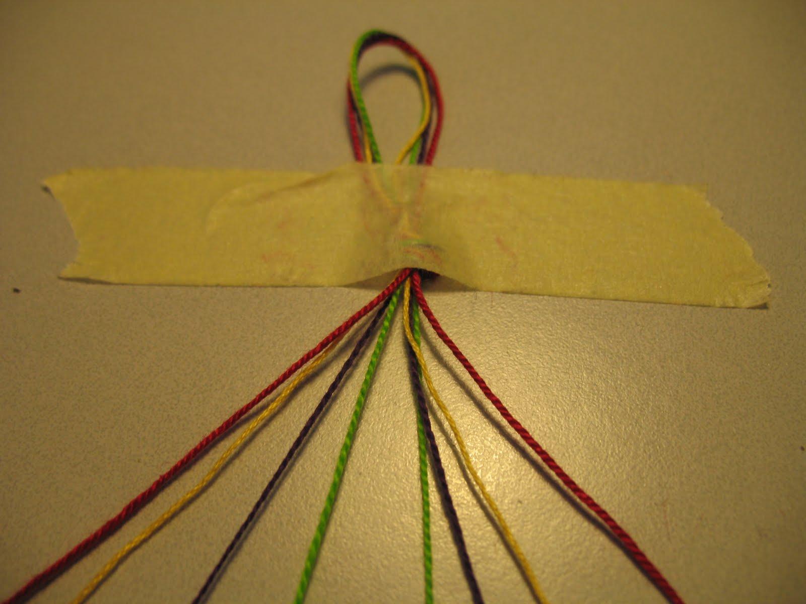 Braccialetti di cotone tutorial 04 filo feltro e fantasia for Nodo invisibile per unire due fili di lana