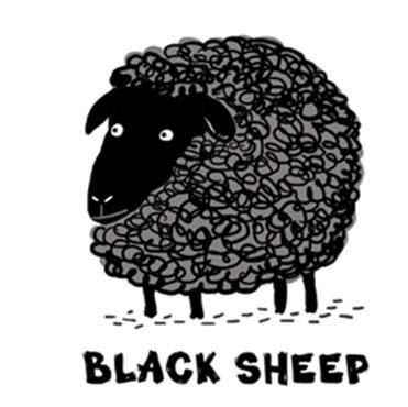 black sheep lookk family member choose mind
