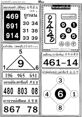 Thai Lottery Tips Results Checker Magic Win Tip Paper Pictures