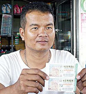 Thai man wins 34 million Baht Lottery