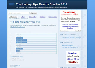 Thai Lottery Results Lotto Tips June