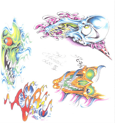 Tattoo Flash Ed Lee Set 3