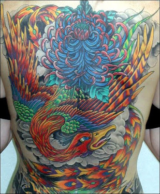 Back Phoenix Tattoos design. Posted by TROY at 9:35 PM