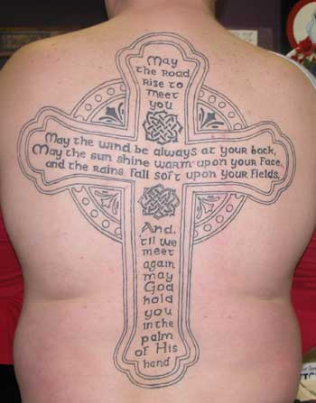 Christianity Tattoo-back cross tattoo1#