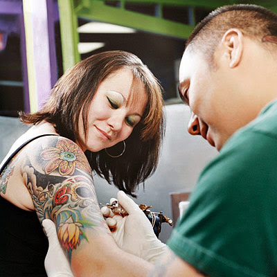 tattoo parlors, the names of customers who can relate