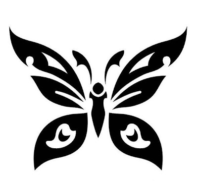 Butterfly Tribal Tattoo Design Picture 3