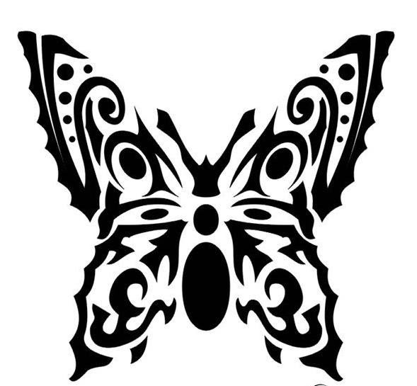 Best Tatto Design: Butterfly Tribal Tattoo Designs