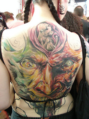 Image of Upper Back Tattoos Designs For Women
