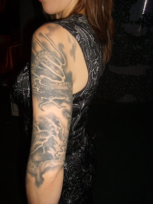 dragon arm tattoos ideas sexy girls. Posted by Graffiti at 7:37 PM