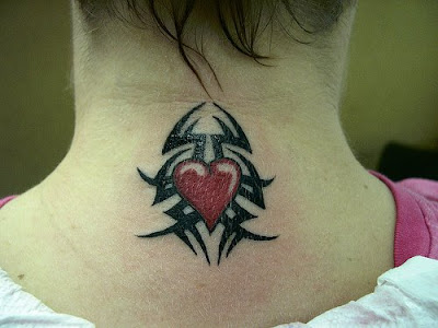 Popular Tribal Heart Tattoo Women Sexy Girls