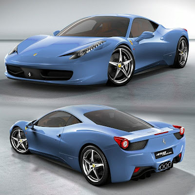 Ferrari 458 Italia in colours by Photoshop