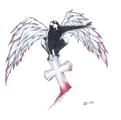Dark Angel Tattoo Design Picture