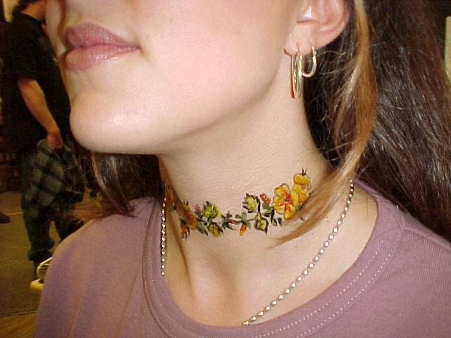 Neck Tattoos, flowers neck tattoo, Butterfly neck tattoo, Star neck tattoo
