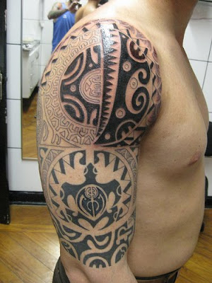tribal tattoo, arm upper tattoo, art tattoo new style