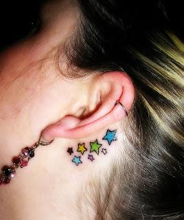ear star tattoo sexy girls tattoo