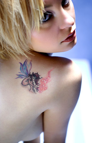 Angel And Fairy Tattoo Design - Angel And Fairy Tattoo