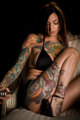 full body tattoo, women  sexy girls, woman show sexy tattoo ,full body tattoo-007