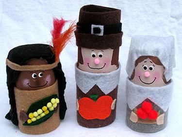 Thanksgiving Craft Ideas Adults on Kids   Crafts   Thanksgiving   Cardboard Tube Pilgrims   Indians