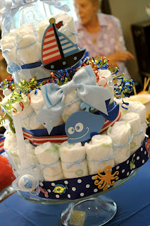 Nautical by Nature: Nautical Baby Shower Diaper Cake