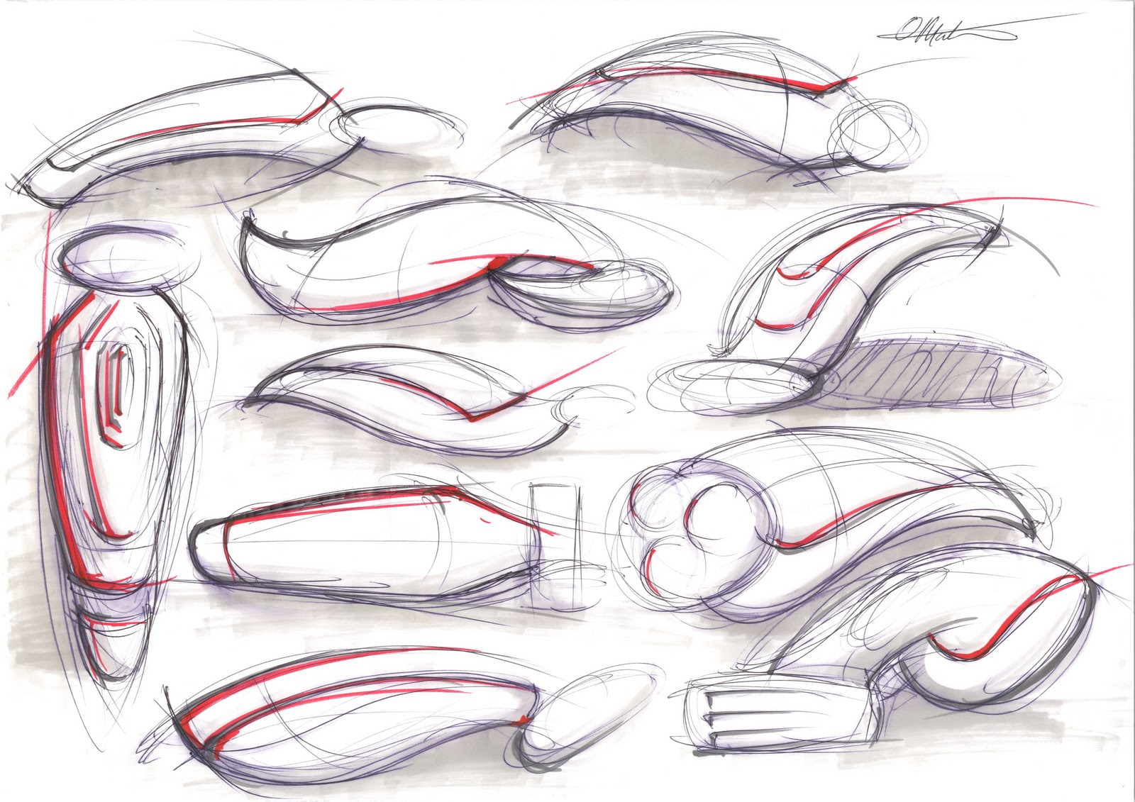 MATON DESIGN Gillete Concept Sketches