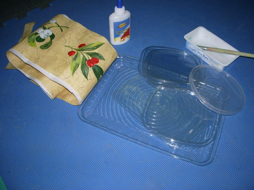 Peque as bandejas de navidad recicladas for Bandejas de navidad