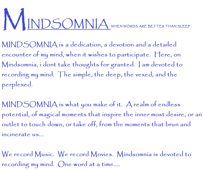 MINDSOMNIA